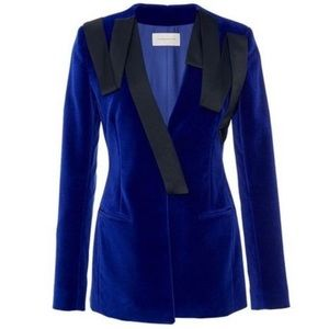 NWT | CHRISTOPHER KANE royal blue velvet blazer